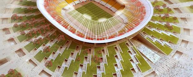 Стадион «Волга-Арена» построят на 2 месяца раньше