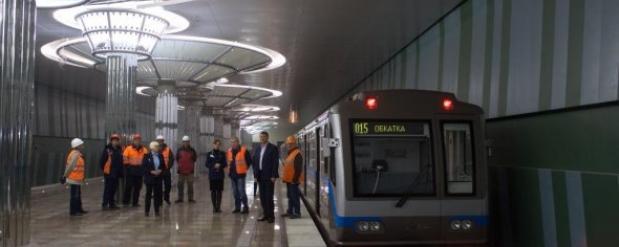 """Тестовый поезд метро проехал от станции """"Московская"""" до """"Стрелки"""""""