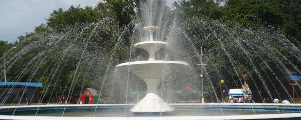 Снова запущен в работу главный городской фонтан Нижнего Новгорода