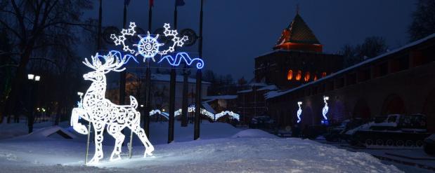 В Нижнем Новгороде будут подсвечивать Кремль, за 75 миллионов рублей